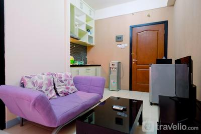 Homey Studio Apartment @ Salemba Residence  By Travelio