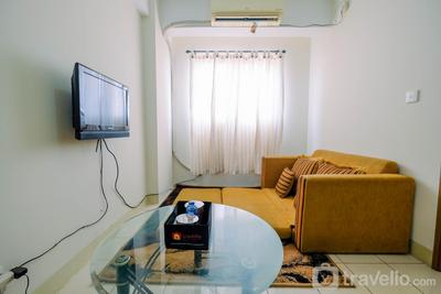 Furnished 2BR with City View at Gading Icon Apartment By Travelio