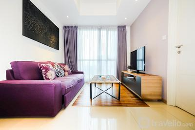 1BR Apartment with Big Sofa Bed at Casa Grande Residence By Travelio