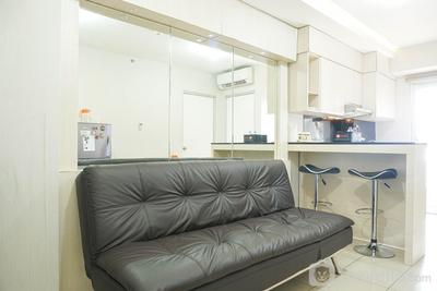 2BR near Baywalk Pluit Mall at Green Bay Apartment By Travelio