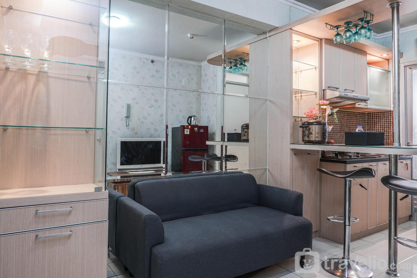 Gading Nias Residence - Minimalist Emerald 2BR Apartment at Gading Nias Residences By Travelio