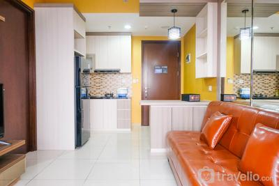 Spacious City View 1BR at M-Town Signature Apartment By Travelio