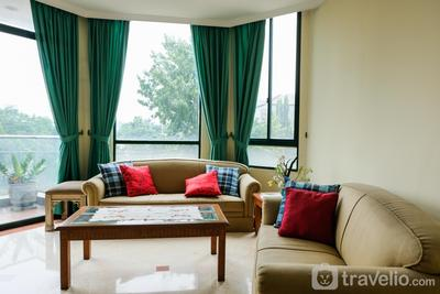 3BR with Pool View at Permata Gandaria Apartment By Travelio