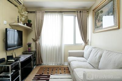 Comfy and Minimalist 2BR Apartment at Taman Rasuna Kuningan By Travelio