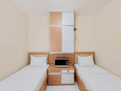 Minimalist Studio Room Apartment at Aeropolis Residence By Travelio