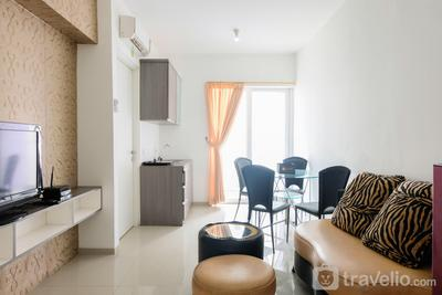 Comfy 2BR Apartment at Aeropolis Crystal Residence By Travelio