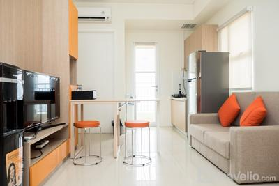 Elegant 2BR Apartment at Parahyangan Residence By Travelio