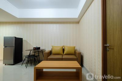 Clean 1BR The Oasis Cikarang Apartment By Travelio