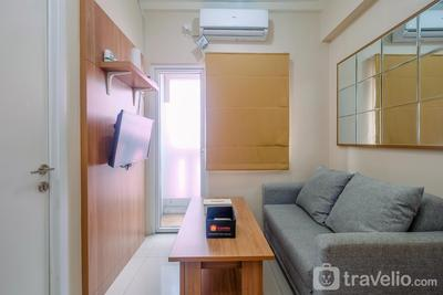 Trendy Connecting Mall 2BR Green Pramuka Apartment By Travelio