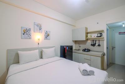 Homey Studio at Bogorienze Apartment near The Jungle Waterpark By Travelio