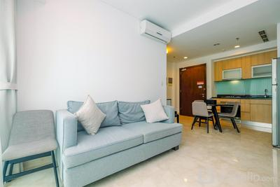 Exclusive 1BR with Working Room at Setiabudi Skygarden Apartment By Travelio