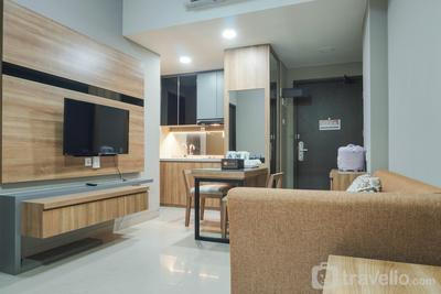 Elegant 1BR Apartment with Working Space Mustika Golf Residence By Travelio