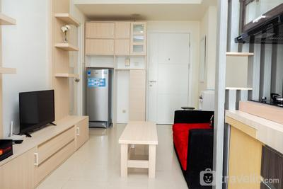 Comfort and Cozy 2BR Parahyangan Residence Apartment By Travelio