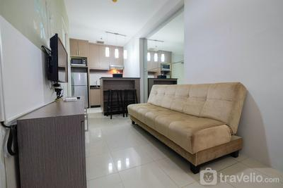 2BR with Sofa Bed Cervino Tebet Apartment By Travelio