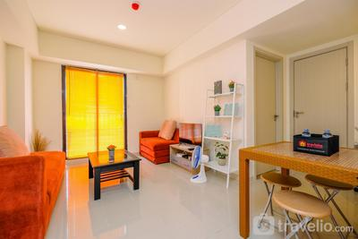 Homey and Simple 2BR at Meikarta Apartment By Travelio