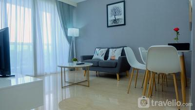 Classy 2BR Apartment at Menteng Park with City View By Travelio