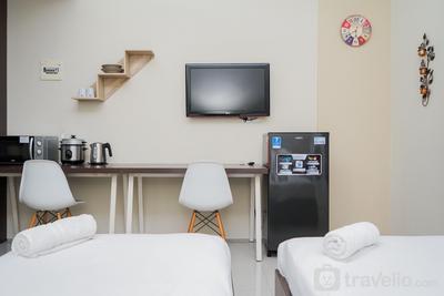 Cozy Studio (No Kitchen) Apartment at Kubikahomy By Travelio