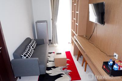 Cozy 1BR Scientia Residence Apartment near Summarecon Mall Gading Serpong By Travelio