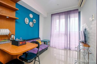 Homey and Comfortable 1BR Apartment at Royal Olive Residence By Travelio