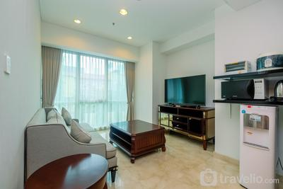 Cozy 1BR with Workspace at Setiabudi Skygarden Apartment By Travelio