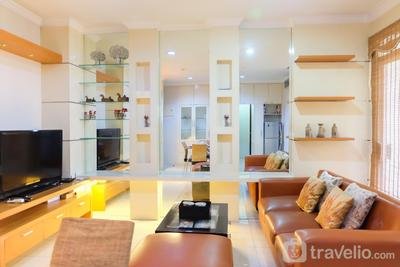 2BR Apartment with Study Room at Casablanca Mansion By Travelio