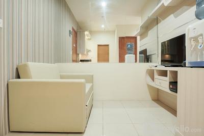 Comfort and Minimalist 2BR Titanium Square Apartment By Travelio