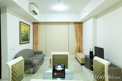 Cozy and Elegant 2BR Kemang Village Apartment By Travelio