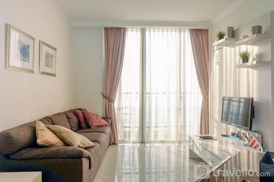 Sea View 1BR Apartment for 4 Pax at Ancol Mansion By Travelio
