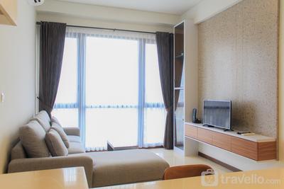Brand New & Super Comfy 1BR Marigold Nava Park Apartment By Travelio