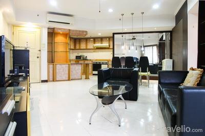 2BR Family Sudirman Condominium Apartment near Plaza Semanggi By Travelio