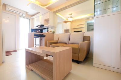 Modern Minimalist 2 BR Bassura City Apartment By Travelio