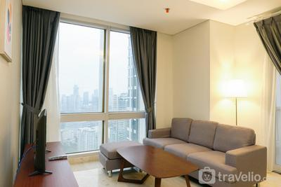 Modern Furnished 2BR at The Empyreal Condominium Epicentrum Apartment By Travelio