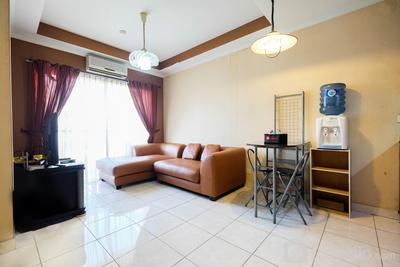 Modern 2BR at City Home Apartment with Sofa Bed near MOI By Travelio