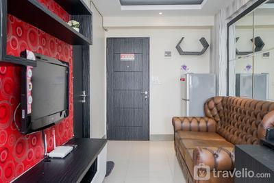 Comfy 2BR with Modern Design Bintaro Park View Apartment By Travelio