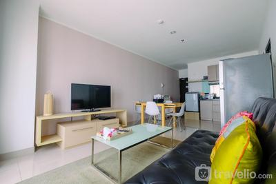Cozy 2BR Apartment with Sofa Bed at Tamansari Semanggi By Travelio