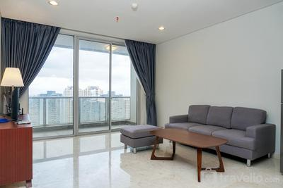 Comfortable Deluxe 2BR at The Empyreal Condominium Epicentrum Apartment By Travelio
