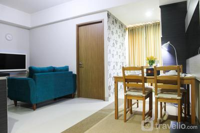 1BR with Extra Balcony The Oasis Cikarang Apartment By Travelio