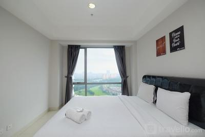 Spacious Minimalist Style 1BR Apartment @ The Mansion Kemayoran By Travelio