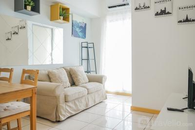 Spacious and Elegant 2BR M-Town Serpong Apartment By Travelio