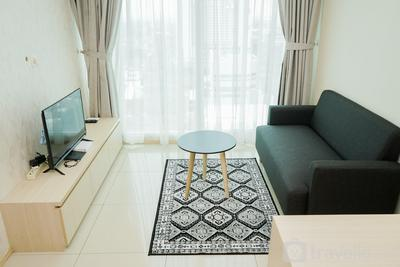 Homey and Cozy Stay 1BR at Tree Park City BSD Apartment By Travelio
