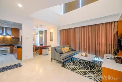 Elegant 2BR with Study Room Essence Dharmawangsa Apartment By Travelio