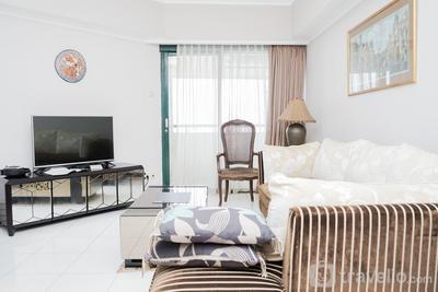 Spacious and Premium 3BR Apartment with City View Sudirman Tower Condominium By Travelio