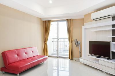 Cozy 2BR Apartment at The Mansion Kemayoran By Travelio