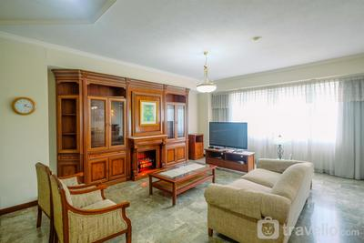 Elegant and Homey 2BR with Working Room Prapanca Apartment near Lippo Mall Kemang By Travelio
