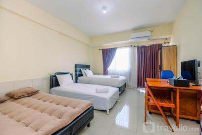 Homey Good Studio Depok Park View Condominium Apartment By Travelio