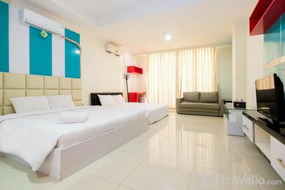 Family Studio For 4 Pax At Ancol Mansion Apartment By Travelio
