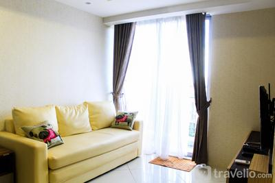 Golf View 2BR Apartment @ The Mansion Kemayoran By Travelio
