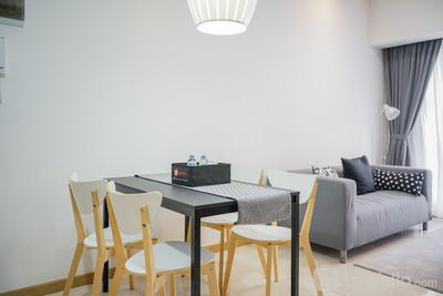Fully Furnished with Best View 2BR Serpong M-Town Apartment By Travelio
