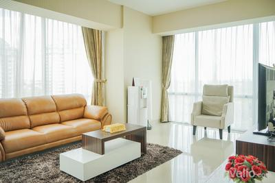 Cozy with Elegant Living 2BR Apartment at U Residence By Travelio